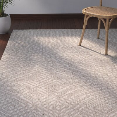 Raposa Brown/White Geometric Area Rug Rug Size: 9 x 12