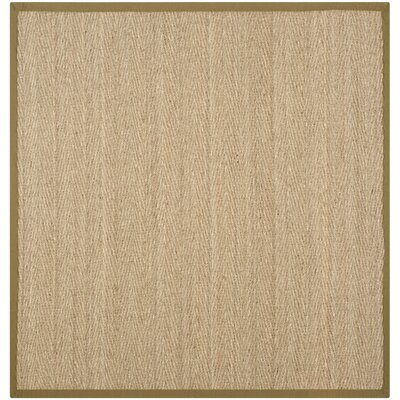 Greene Traditional Brown Area Rug Rug Size: Square 8