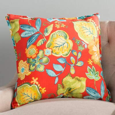 Hiawatha Beach Corded Floral Indoor/Outdoor Throw Pillow Size: 18 x 18