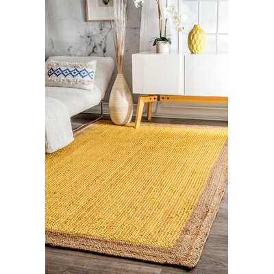 Dryden Hand-Woven Yellow Area Rug Rug Size: 4 x 6