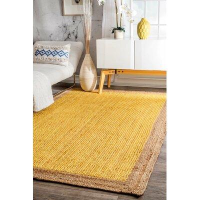 Merri Hand-Woven Yellow Area Rug Rug Size: 4 x 6