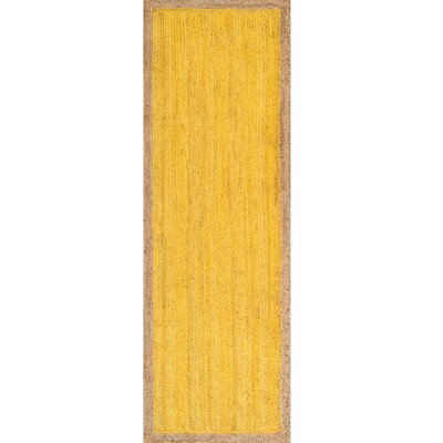 Merri Hand-Woven Yellow Area Rug Rug Size: Runner 26 x 8