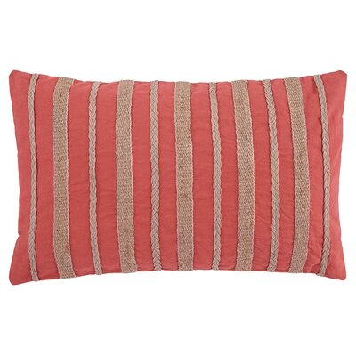 Lilie Cotton Throw Pillow Color: Coral