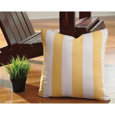 Molesley Throw Pillow Color: Yellow
