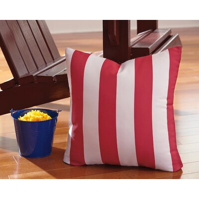 Ermolaos Throw Pillow Color: Red