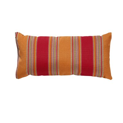 Trinidad Sunbrella Lumbar Pillow Color: Bravada Salsa