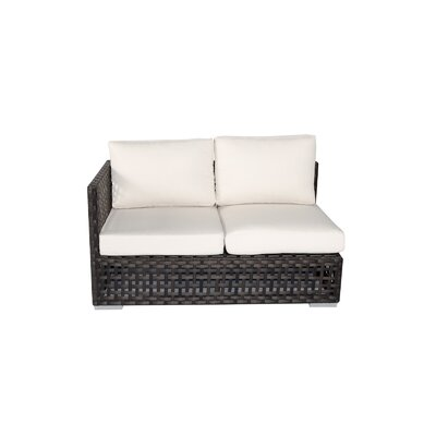 Marianna Left Arm Facing Loveseat with Cushion Fabric: Rust