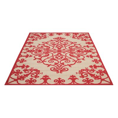 Farley Red Indoor/Outdoor Area Rug Rug Size: Rectangle 710 x 106