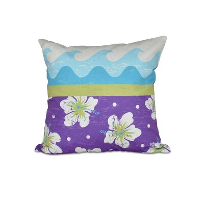 Golden Beach Floral Outdoor Throw Pillow Color: Light Green, Size: 20 H x 20 W