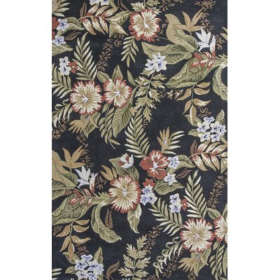 Delview Black Wildflowers Area Rug Rug Size: Rectangle 8 x 106