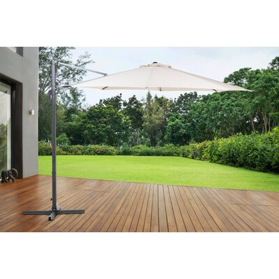 10' Solarte Cantilever Umbrella Color: Off-white