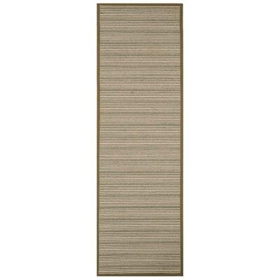 Nonatum Fiber Green Area Rug Rug Size: Runner 26 x 8