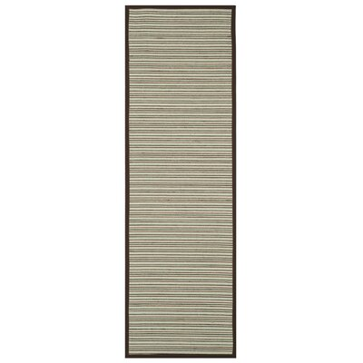 Penrock Fiber Teal/Brown Area Rug Rug Size: Runner 26 x 8