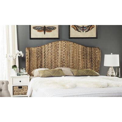 Farragut Wingback Headboard Size: Full, Upholstery: Natural