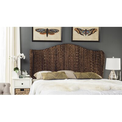 Farragut Wingback Headboard Size: King, Upholstery: Brown