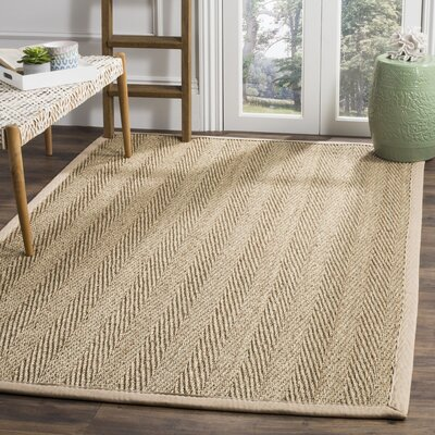 Carsten Natural/Light Beige Area Rug Rug Size: 5 x 8