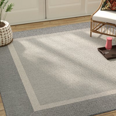 Linden Gray Indoor/Outdoor Area Rug Rug Size: Square 86