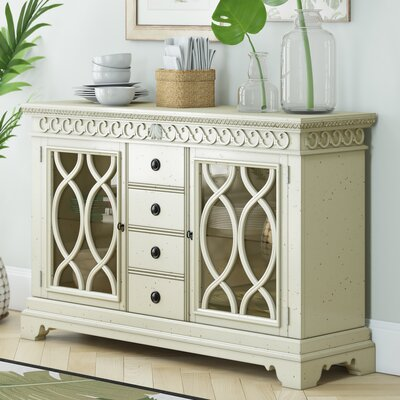 Harrouda Sideboard Color: White