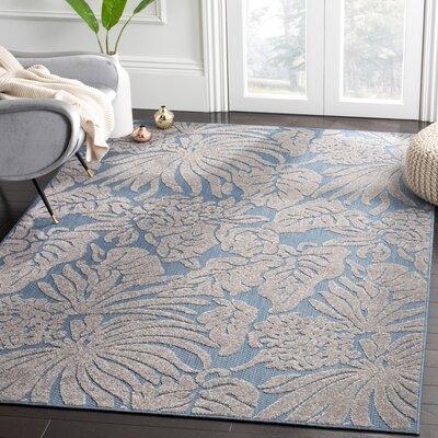 Patricia Blue Indoor/Outdoor Area Rug Rug Size: 53 x 77