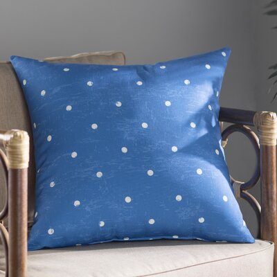 Pembrook Dorothy Dot Geometric Throw Pillow Size: 26 H x 26 W, Color: Blue
