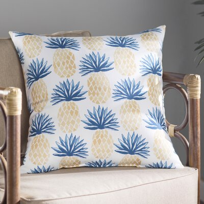 Costigan Pineapple Stripes Throw Pillow Size: 18 H x 18 W x 3 D, Color: Blue