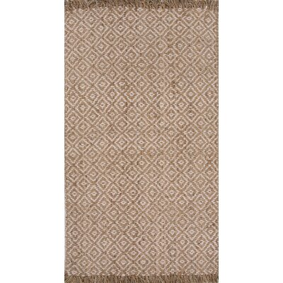 Raposa Jute Naturals Hand-Woven Ivory/White Area Rug Rug Size: 5 x 8