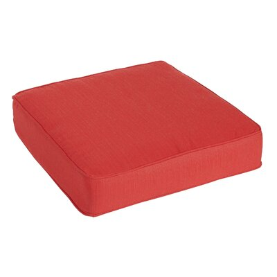 Outdoor Sunbrella Ottoman Cushion Color: Sunbrella Dupione Crimson