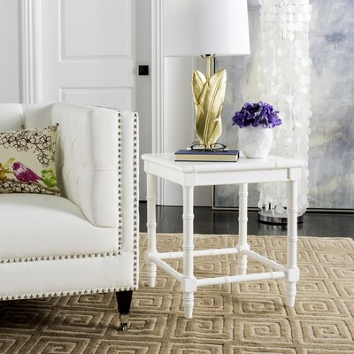 Batai End Table Finish: White