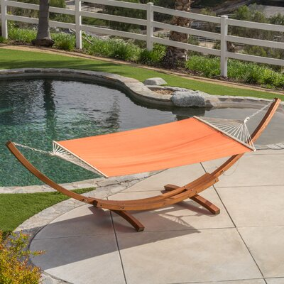 Kouklia Canvas Hammock with Stand Color: Orange