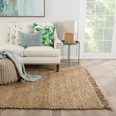 Raposa Hand-Woven Taupe/Tan Area Rug Rug Size: Rectangle 8 x 10