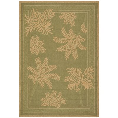 Wickford Green Outdoor Rug Rug Size: Rectangle 53 x 77