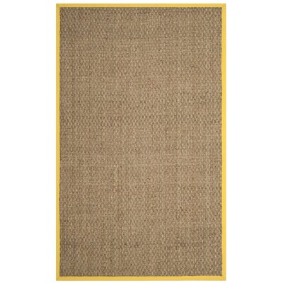 Elba Natural/Gold Area Rug Rug Size: Rectangle 5 x 8