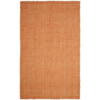 Stantonsburg Hand-Woven Rust/Natural Area Rug Rug Size: Rectangle 5 x 8