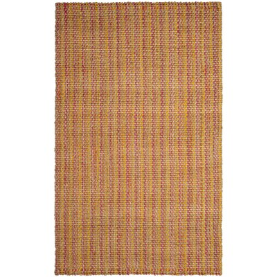 Neta Hand-Woven Pink/Yellow Area Rug Rug Size: Rectangle 8 x 10