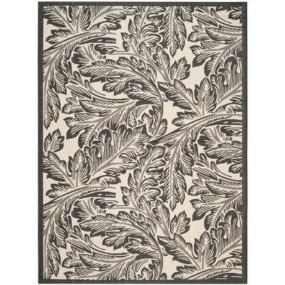 Alberty Sand/Black Outdoor Area Rug Rug Size: Rectangle 710 x 11