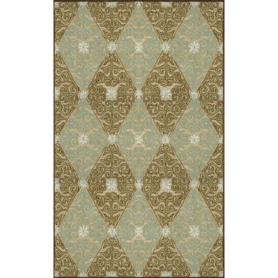 Demirhan Lakai Diamond Aqua Indoor/Outdoor Rug Rug Size: 5 x 76
