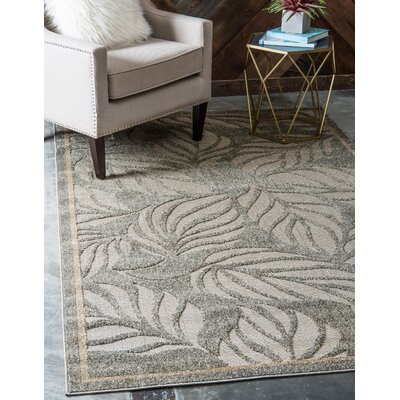 Barton Olive Indoor/Outdoor Area Rug Rug Size: Rectangle 6 x 9
