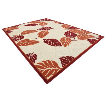 Westerly Beige/Red Indoor/Outdoor Area Rug Rug Size: Rectangle 7 x 10