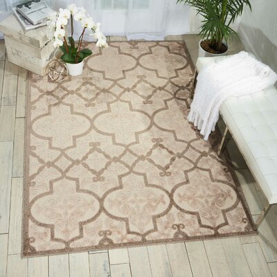 Seaside Cream/Beige Indoor/Outdoor Area Rug Rug Size: Rectangle 710 x 106