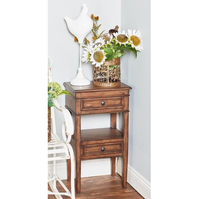 Idlewild Traditional Table with Storage Color: Brown
