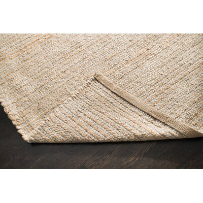 Morton Hand-Woven Gray/Tan Area Rug Rug Size: 4 x 6