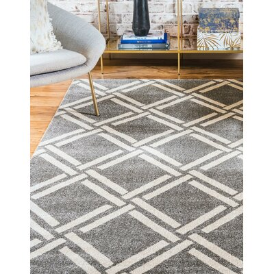 Seagate Gray Area Rug Rug Size: Rectangle 3'3