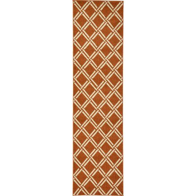 Storyvale Rust Red Area Rug Rug Size: Runner 27 x 10