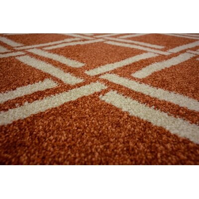 Storyvale Rust Red Area Rug Rug Size: Rectangle 9 x 12