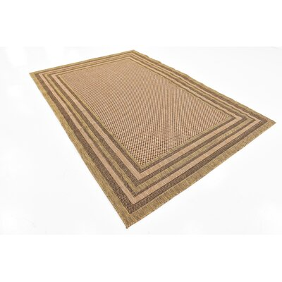 Rockwood Light Brown Outdoor Area Rug Rug Size: Rectangle 6 x 9