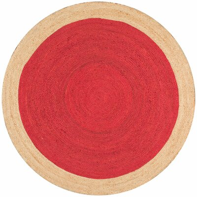 Dryden Hand-Woven Red Area Rug Rug Size: Round 6
