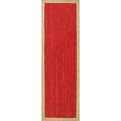 Dryden Hand-Woven Red Area Rug Rug Size: Runner 26 x 8