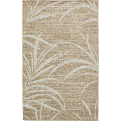 Spathariko Beige Indoor/Outdoor Area Rug Rug Size: Rectangle 5 x 8