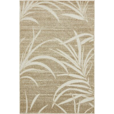 Spathariko Beige Indoor/Outdoor Area Rug Rug Size: Rectangle 4 x 6
