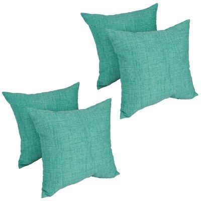 Heming Aqua Outdoor Throw Pillow